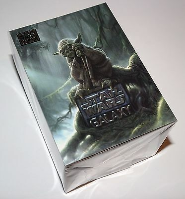 2011 Star Wars Galaxy 6 Trading Card Base Set of 120 Cards + 2 Foot Yoda Poster