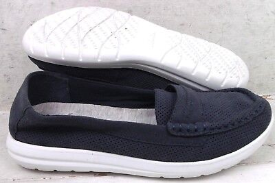 b12c6a6a5a6 Clarks Cloudsteppers Womens Jocolin Maye Navy Perf Slip On Shoes 24457 size  6 M