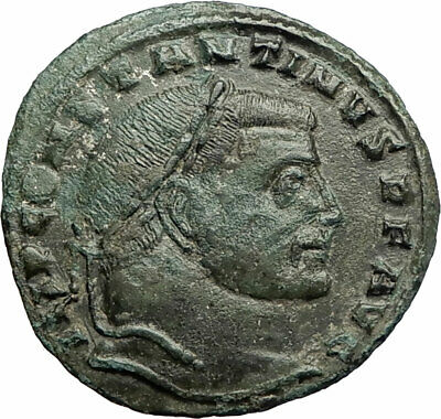 CONSTANTINE I the GREAT 313AD Authentic Ancient Roman Coin JUPITER ZEUS i77076
