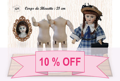 """10% OFF - SET of 2 DOLL BODIES for BLEUETTE or 11"""" doll - (Body Height: 8.3"""")"""