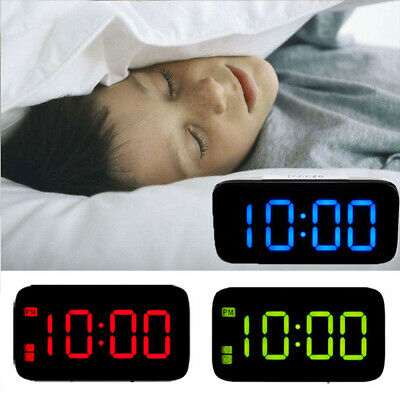 "Large LED Digital Alarm Snooze Clock Voice Control Time Display 5"" Screen New"