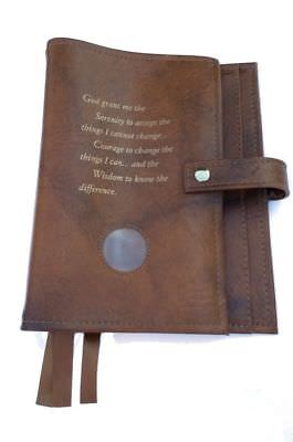 Triple 6th Edition NA Narcotics Anonymous Book Cover Serenity Prayer Tan