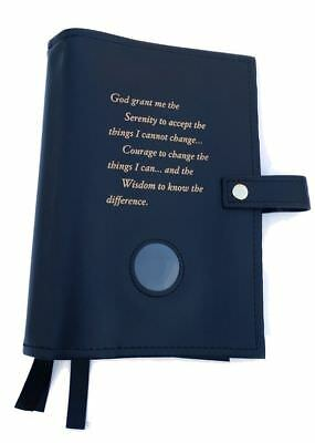 Triple 6th Edition NA Narcotics Anonymous Book Cover Serenity Prayer Black