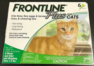 Frontline Plus for Cats & Kittens 8 weeks or older 6 Doses #8404