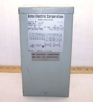 ACME POWER TRANSFORMER 1 Phase Primary Volts 240 X 480, T-2 ... on