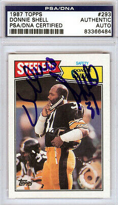 ace9233a3 Donnie Shell Autographed Signed 1987 Topps Card  293 Steelers PSA  83366484