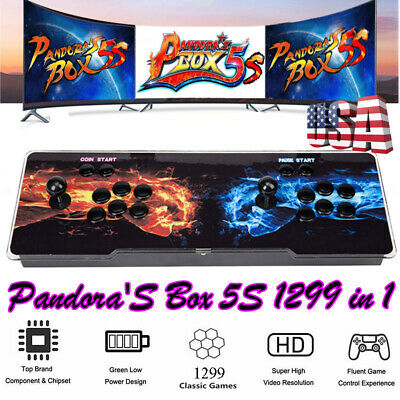 2019 Newest Pandora's box 5S Retro Home Arcade Video Game 1299 Games in 1 System