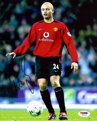 Wes Brown Autographed Signed 8x10 Photo Manchester United PSA/DNA #U54330