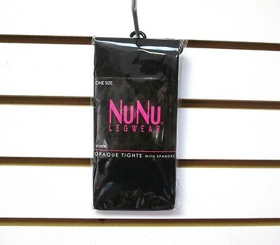 ba75c792cc5 Brand New Women s Nu   Nu Leg Wear One Size Black Opaque Tights With Spandex