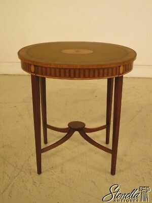 43510: Adams Style Satinwood Inlaid Oval Occasional Table
