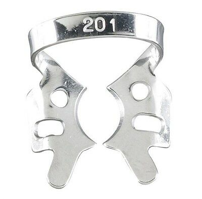 Rubber Dam Clamps #201 Upper Molars Die-Cut Tempered Stainless Clamp