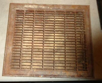 """Vintage Floor Grate Vent Louvered Size 16x14"""" Hole Opening 14 x 12 """" Used   #2"""