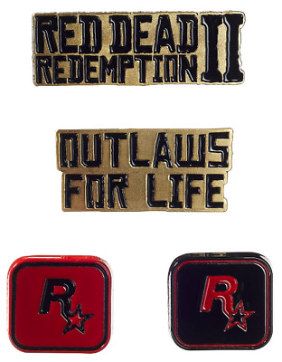 NEW Rockstar Games Red Dead Redemption II 4pc Pin Badge Set
