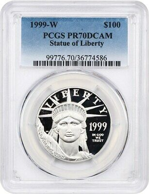 1999-W Platinum Eagle $100 PCGS PR 70 DCAM - Proof American Platinum Eagle