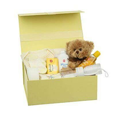 Newborn Baby Gift Box Hamper – New Baby Clothes Teddy Bear and Gifts in a Kee