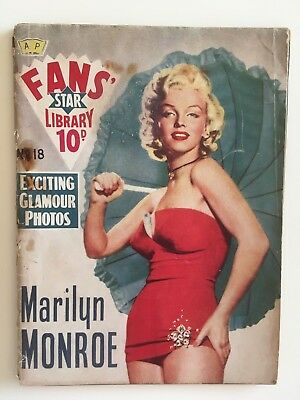 Fans' Star Library Marilyn Monroe Magazine #18 Rare 1950s from UK