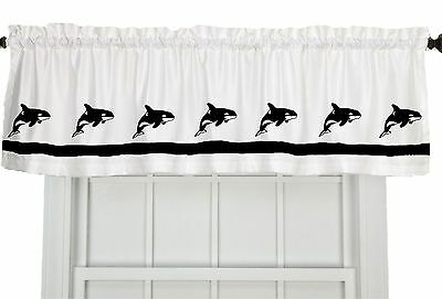 Orca Killer Whale Fish Window Valance Your choice of colors