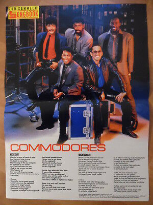 COMMODORES Nightshift BRAVO A4 Songbook Clipping 164