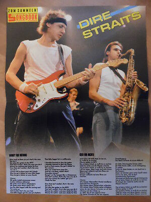 DIRE STRAITS money for nothing BRAVO A4 Songbook Clipping 170