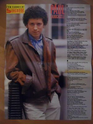 PAUL HARDCASTLE 19 BRAVO A4 Songbook Clipping 186