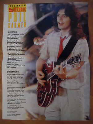 PHIL CARMEN On my way in L.A. BRAVO A4 Songbook Clipping 188
