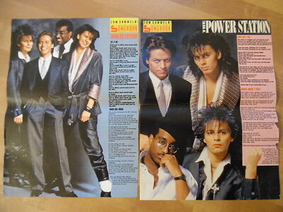 2x THE POWER STATION get it on + some like it hot BRAVO A4 Songbook Clipping 189