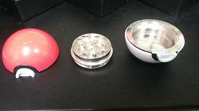 Pokemon Pokeball Grinder for Spices, Herbs, Tobacco. 55mm 2.2inch Aluminum