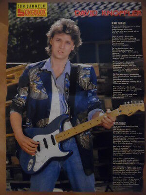 DAVID KNOPFLER heart to heart  BRAVO A4 Songbook Clipping 167