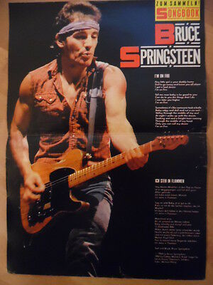 BRUCE SPRINGSTEEN I'm on fire BRAVO A4 Songbook Clipping 159