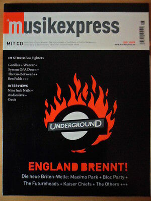 MUSIKEXPRESS 6/2005 ** England brennt Maximo Park Bloc Party Futureheads Others