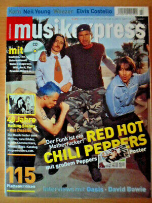MUSIKEXPRESS 7/2002 * Red Hot Chili Peppers Rolling Stones-12 Seiten David Bowie