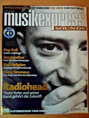 MUSIKEXPRESS 3/1998 * Thom York Radiohead Bad Religion G. Simmons Ozzy Osbourne