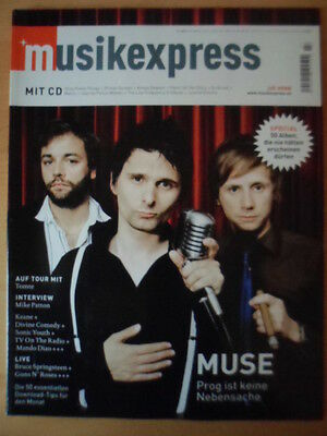 MUSIKEXPRESS 7/2006 MUSE Tomte Mike Patton Keane Sonic Youth Bruce Springsteen
