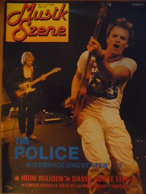 MUSIK SZENE 7- 1983 * Police Iron Maiden David Bowie B-52`s Planet B Ellen Foley