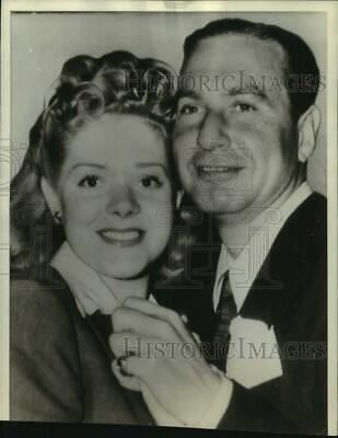 1941 Press Photo Alice Faye, Actress, Phil Harris, Newlyweds, San Diego