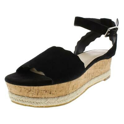 d221351c30ed MARC FISHER WOMENS Hasina Perforated Suede Wedge Sandals Shoes BHFO ...