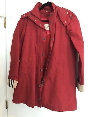 Authentic Burberry Brit Red Bowpark Trench Raincoat With Warmer Jacket Size 6