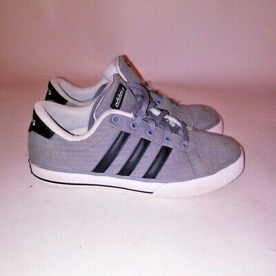 Adidas Mens Sneakers Size 5 Gray Black 3 Stripes Neo Label