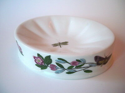Portmeirion Botanic Garden RHODODENDRON & Dragonfly Oval Soap Dish