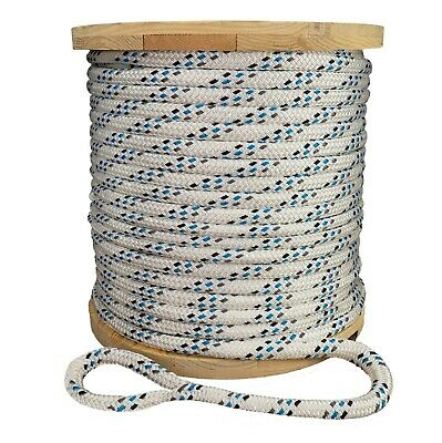 "Double Braid Polyester Composite Cable Wire Pull Pulling Rope W/ 6"" Spliced Eyes"