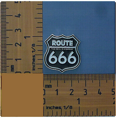 Route 666 The Devils Highway  Metal Badge / Lapel Pin