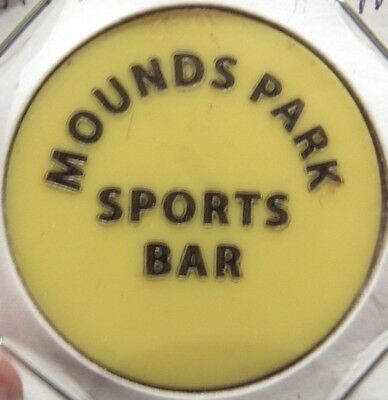 Vintage Mounds Park Sports Bar St. Paul, MN Yellow Plastic Trade Token Minnesota