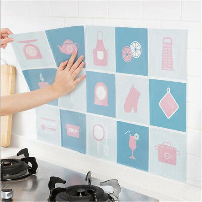 Anti Oil Wall-Stickers Ceramic Tile High Temperature Resistant Stove Stickers D