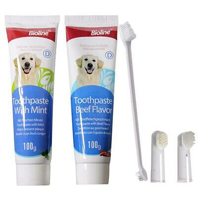 Pet Cat Tool Care Cleaning Toothbrush 100g Oral Hygiene Dog Toothpaste Set