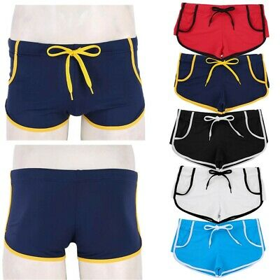 Men's Swim Trunks Swimwear Quick Dry Beach Board Shorts Boxer Square Leg Short