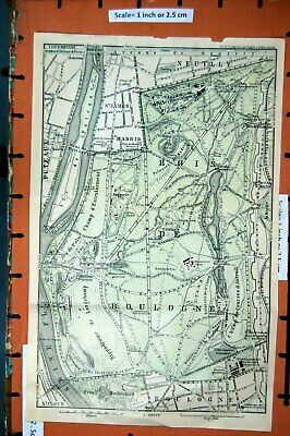France Bois De Boulogne 1965 Old Vintage Map Plan Chart Europe Maps