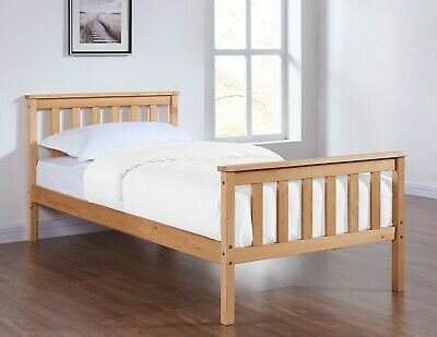 Solid Pine Wooden Single Bed Frame 3FT Modern Design Mattress Optional New