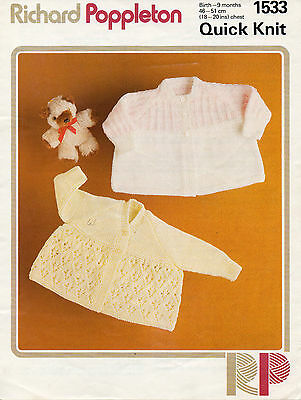 """R26 BABY GIRL MATINEE JACKET BONNET BOOTEES  44-18/"""" 35-45c VINT KNITTING PATTERN"""