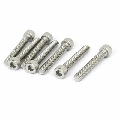 M8x50mm Thread 304 Stainless Steel Hex Socket Head Cap Screw Bolt DIN912 8pcs