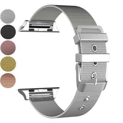 New Milanese Buckle Loop Strap Watch Band For Apple Watch 38/42mm Series 1/2/3/4